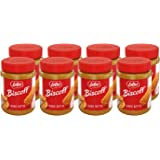 Lotus Biscoff, Cookie Butter Spread, Creamy, non GMO + Vegan, 14.1 oz, Pack of 8