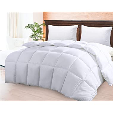 Comforter Duvet Insert – Warm, Fluffy Lightweight & Breathable Queen Size Down Alternative Set – Hotel Quality Bedding– Dust & Spore - Resistant Fibers Ideal for Allergies - Queen Comforter for Summer