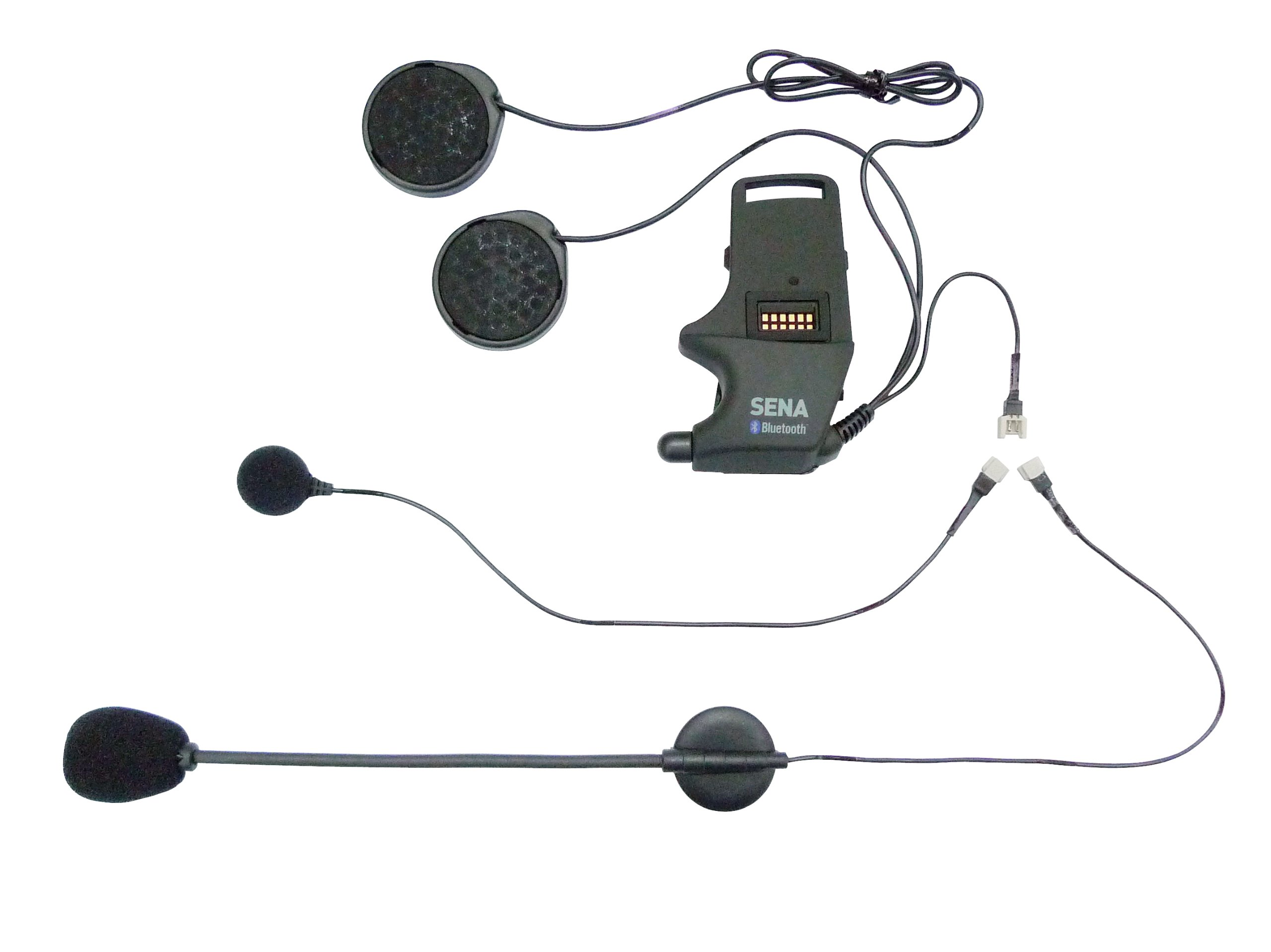 Sena SMH-A0302 Helmet Clamp Kit with Boom and Wired Microphones for SMH10 Bluetooth Headset by Sena
