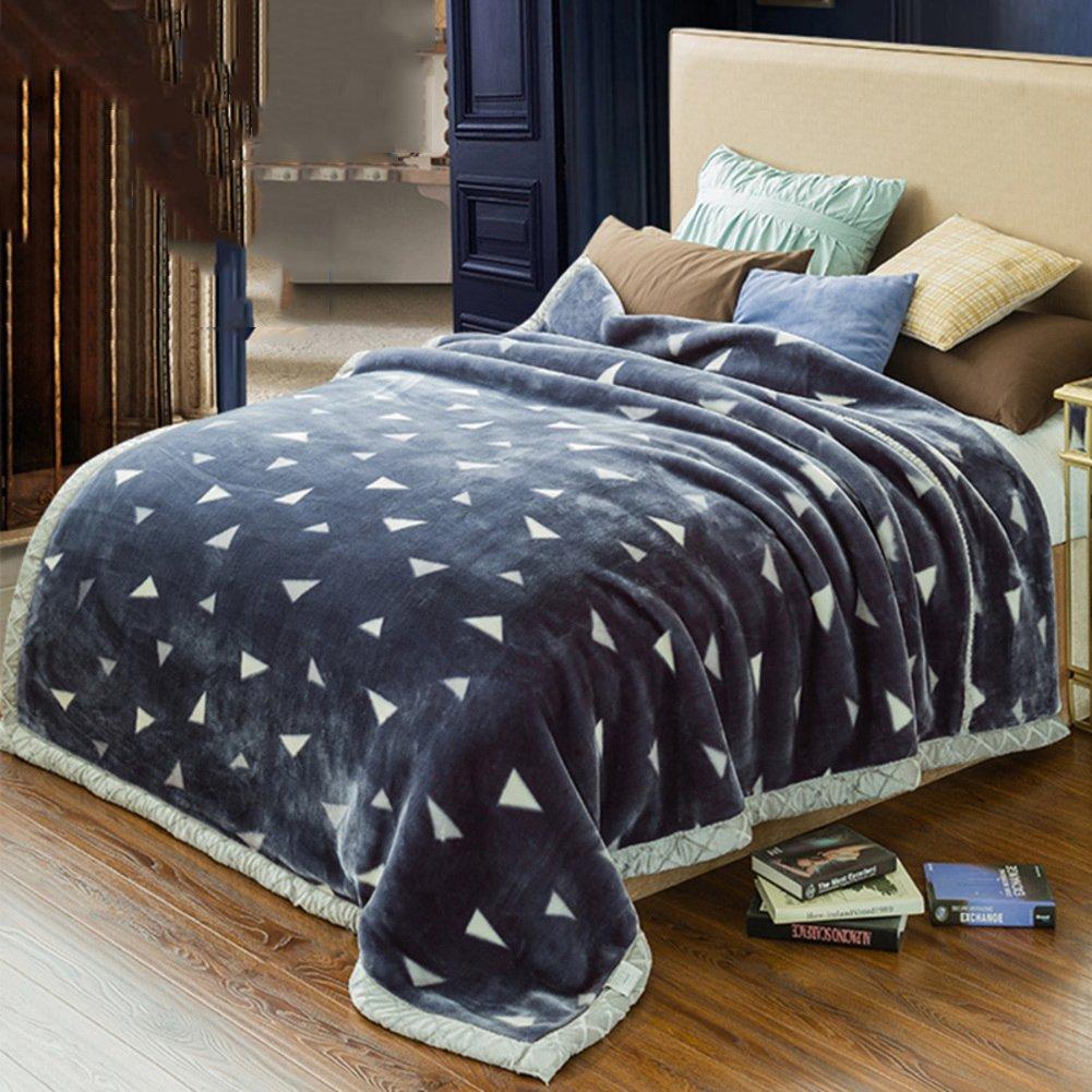 ダブル  ベッド毛布,肥厚したラッセル暖かい毛布キルト ベッド ソファ ソファー キャンプ旅行すべてシーズン キング クイーンの肌向け結婚式毛布-A 200*230cm B078W6PB7T A 200x230cm(79x91inch)