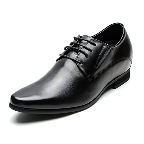 4bbe588b72b35 CHAMARIPA Men's Oxford Leather Height Increasing Elevator Shoes 3.15''  Taller H62D11K011D