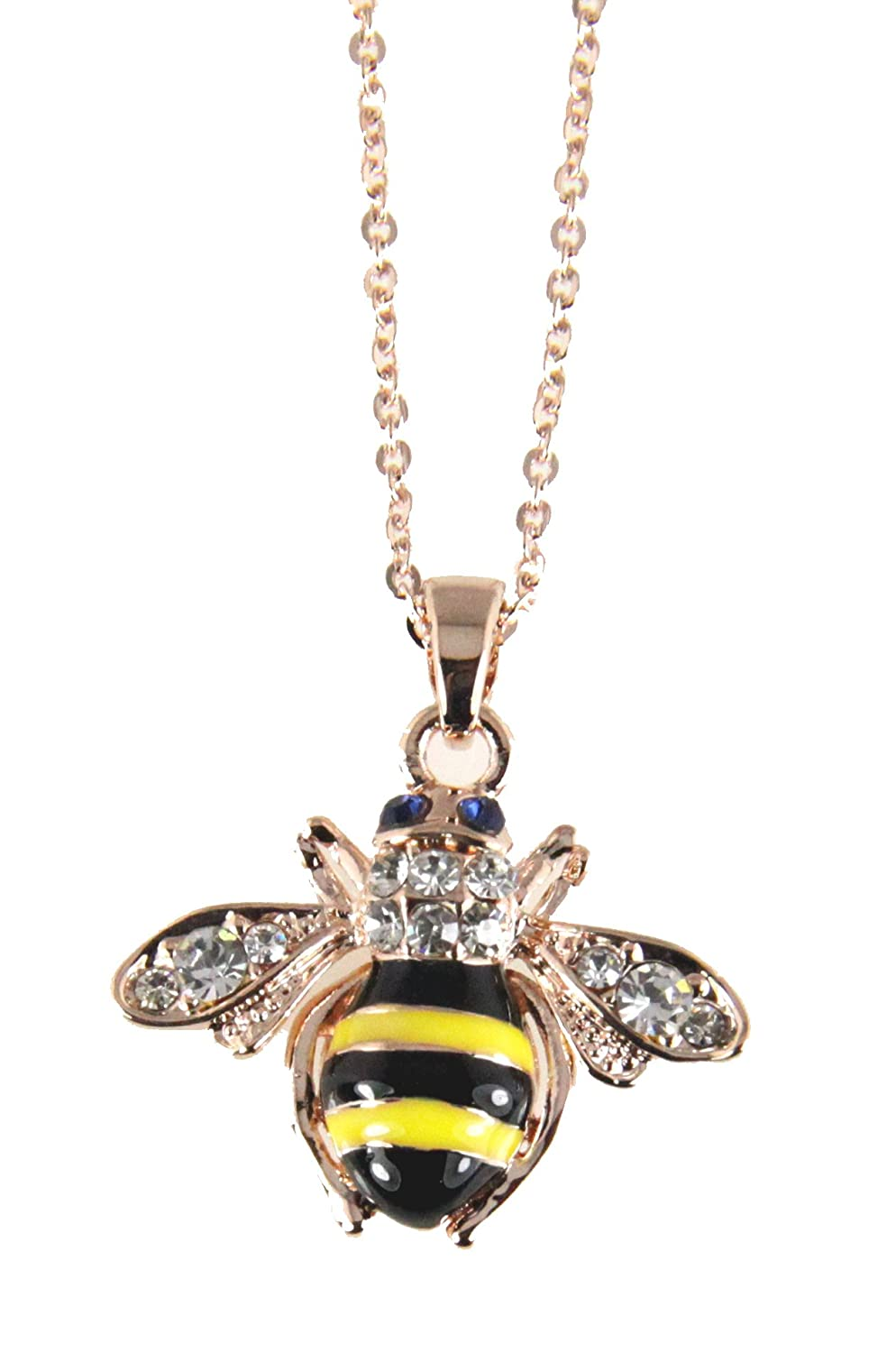 tiny bee necklace jewellery bumble silver pendant gold