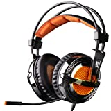 Professional Gaming Headset- EasySMX Xbox 360 PS3 PS4 PC Gaming Headset, Super lightweight Gaming Headset,Over Ear Gaming Headphone with Microphone Noise Isolating In-line Controller (NOT Compatible with Xbox One)