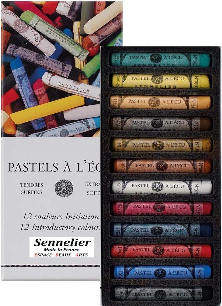 Sennelier Set di pastelli secchi 12 Pastelli Morbidi in ECU Extra fine Fine Pastel Initiation Import Francia Made in France qualit/à Artistica
