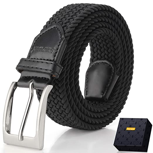 de66525ede0c Elastic Braided Belt, Fairwin Enduring Stretch Woven Belt for Men/Women/Junior  (