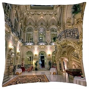 Amazon.com: iRocket - Casino de Madrid - Throw Pillow Cover ...