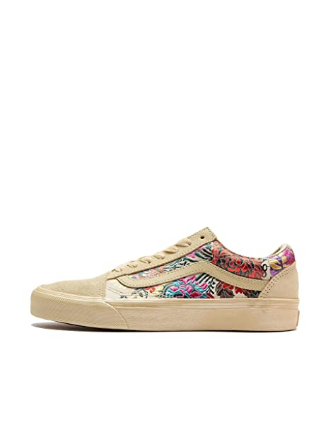 f7bbce9124 Vans Classic Slip on Festival Satin Donna Nero Sneaker  Amazon.it ...