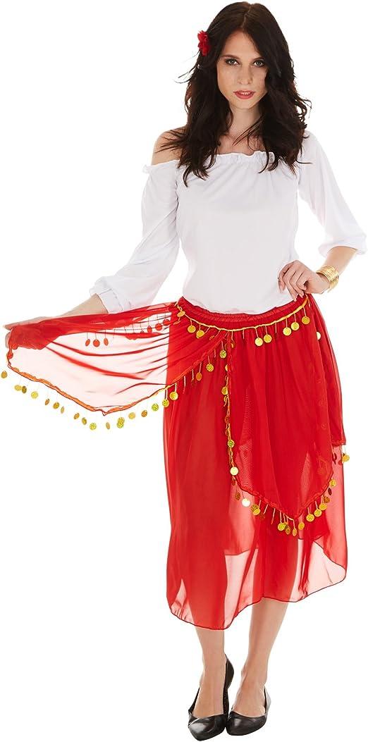 dressforfun Disfraz de Gitana para Mujer | Parte Superior de Corte ...