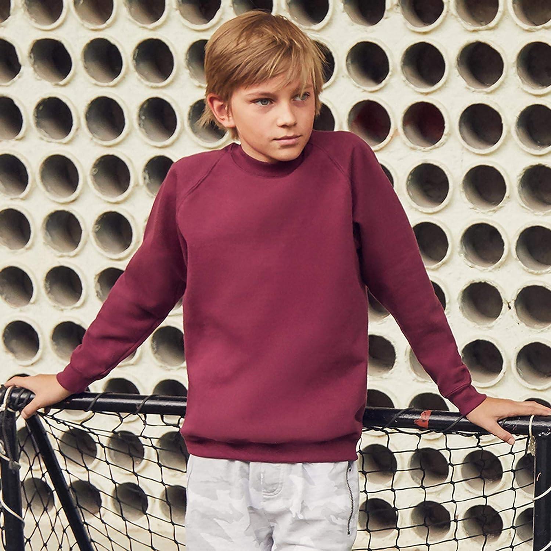Fruit of The Loom Classic 80//20 Kids Raglan Sweatshirt Blank Plain SS271