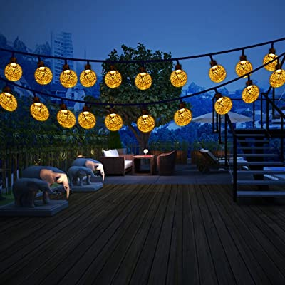 Sanglory Guirlande Lumineuse Solaire 30 Led Boules Cristal Eclairage