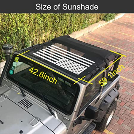 YK ZAOOER Durable Polyester Mesh Bikini Top Couverture Fournit Une Protection Solaire UV pour 1997-2006 Jeep Wrangler TJ Et Illimit/é