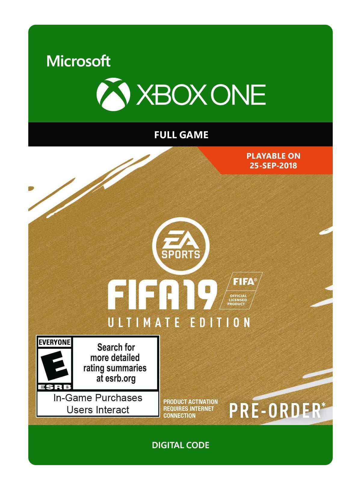 FIFA 19: Ultimate Edition - Xbox One [Digital Code]