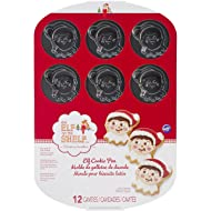 Wilton 2105-8551 Elf on The Shelf Cookie Pan, 12-Cavity