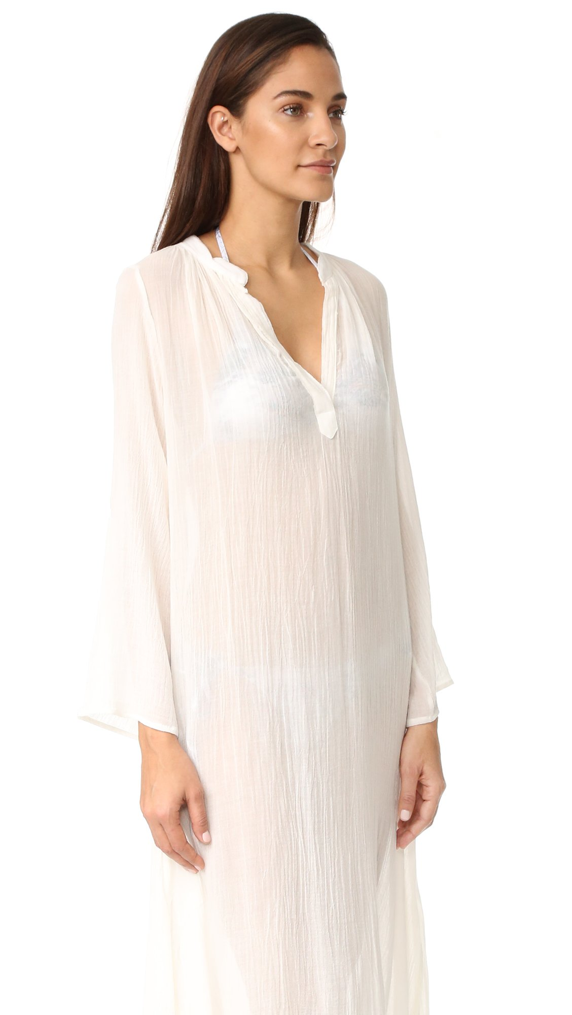 Eberjey Women's Summer Of Love Haven Cover Up Dress, Cloud, S/M by Eberjey (Image #3)