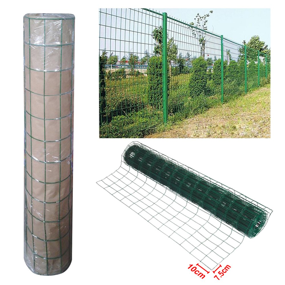 Outdoortips Green PVC Coated Welded Mesh Fencing Wire Garden Rabbit ...