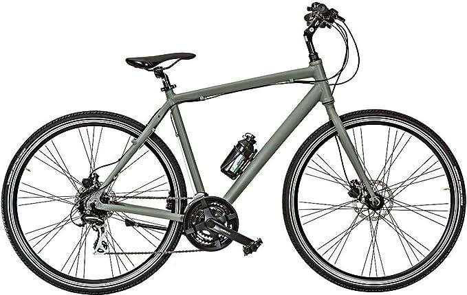 CICLI PUZONE Bicicleta híbrida Aluminio Medida 28 Hombre híbrido Gravel ACERA 24 V Art. I-Gravel, Titanio Opaco, 50 CM: Amazon.es: Deportes y aire libre