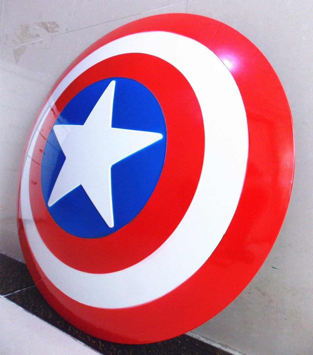 Gmasking Captain America Adult Shield 1:1 Prop Replica+Adjustable Straps