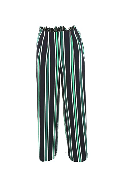 3dcaaca8cf Only Pantalone Donna 40 Blu/Verde 15172604/onlmichelle Primavera ...