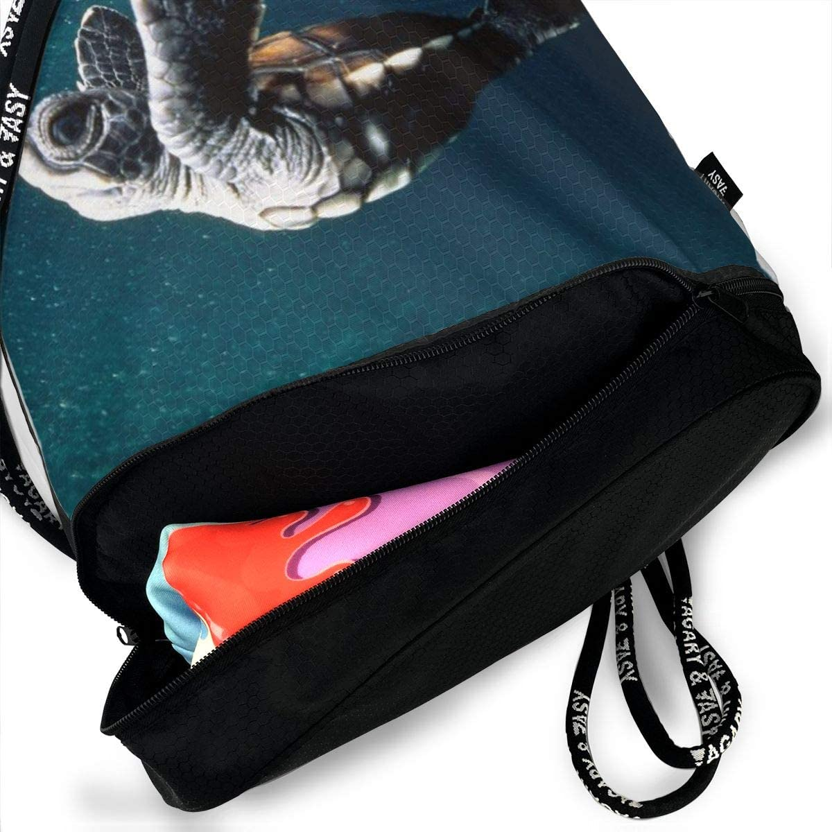 GymSack Drawstring Bag Sackpack Sea Turtles Sport Cinch Pack Simple Bundle Pocke Backpack For Men Women