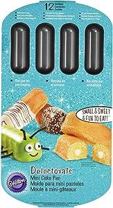 Wilton 2105-3646 Non-Stick 12-Cavity Delectovals Cake Pan