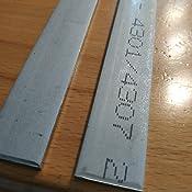 Edelstahl Flachstahl V2A Oberfl/äche blank L/änge 1500 mm Abmessungen 80 x 8 mm FRACHTFREI