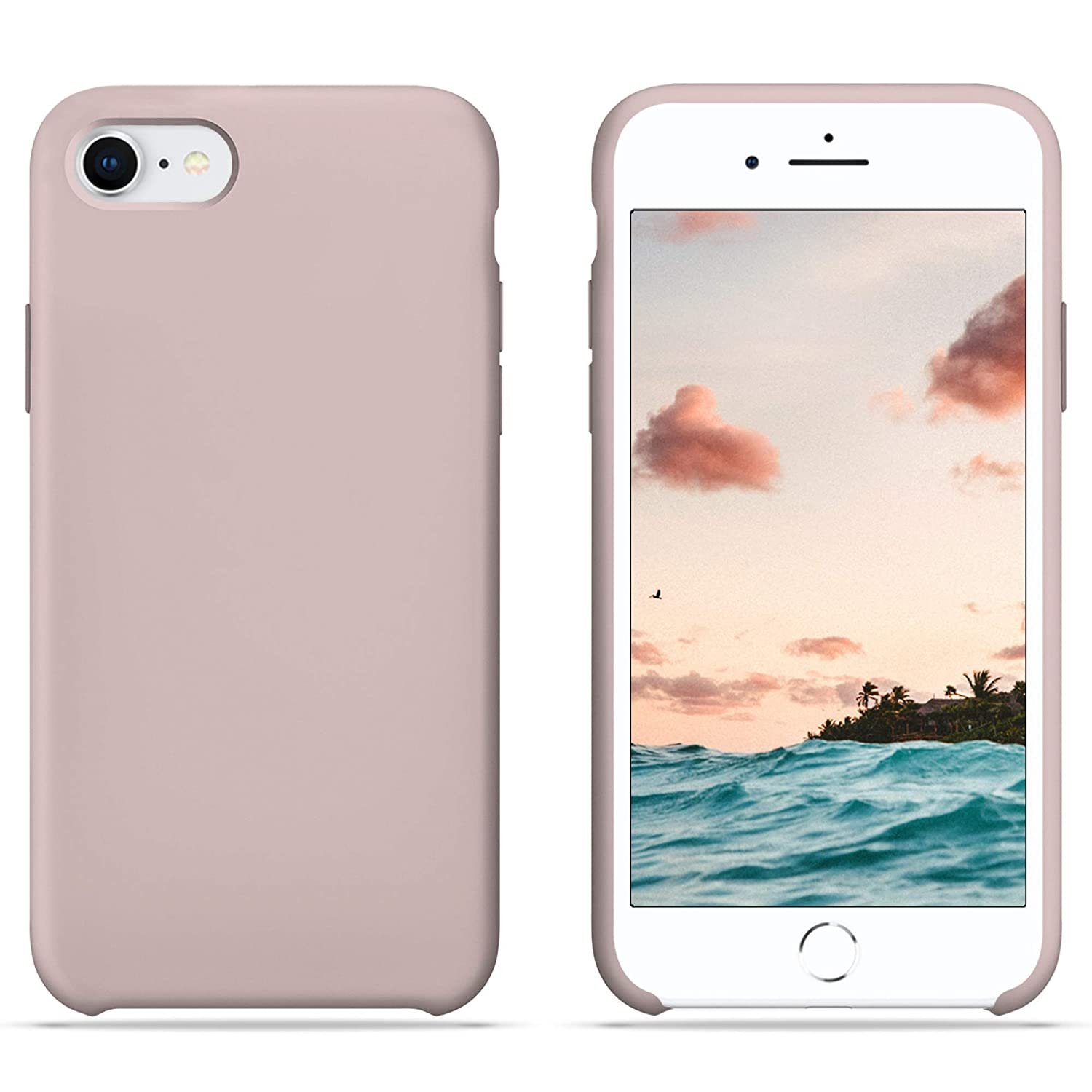 official photos 34ffc 379cb iPhone 6S Case, iPhone 6 Case, HONUA [BacktoBasics] Liquid Silicone Case  Inner Silky Soft-Touch Microfiber Cloth Lining Gel Rubber Case for Apple ...
