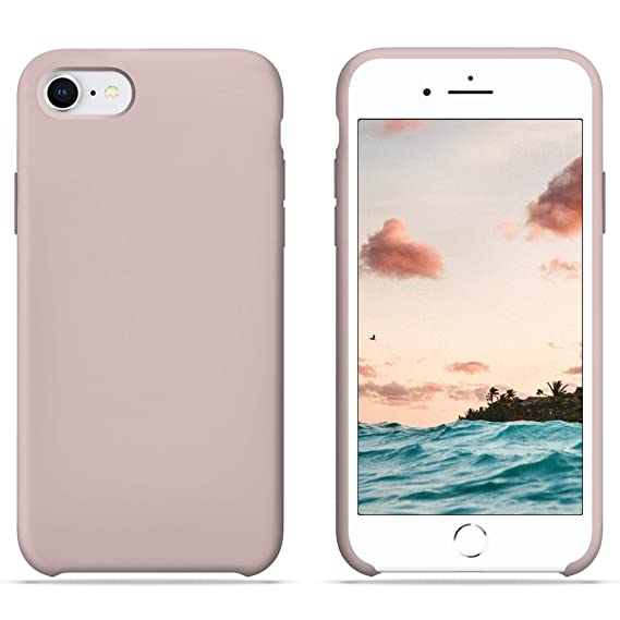 official photos 41f0f 0a6b3 iPhone 6S Case, iPhone 6 Case, HONUA [BacktoBasics] Liquid Silicone Case  Inner Silky Soft-Touch Microfiber Cloth Lining Gel Rubber Case for Apple ...