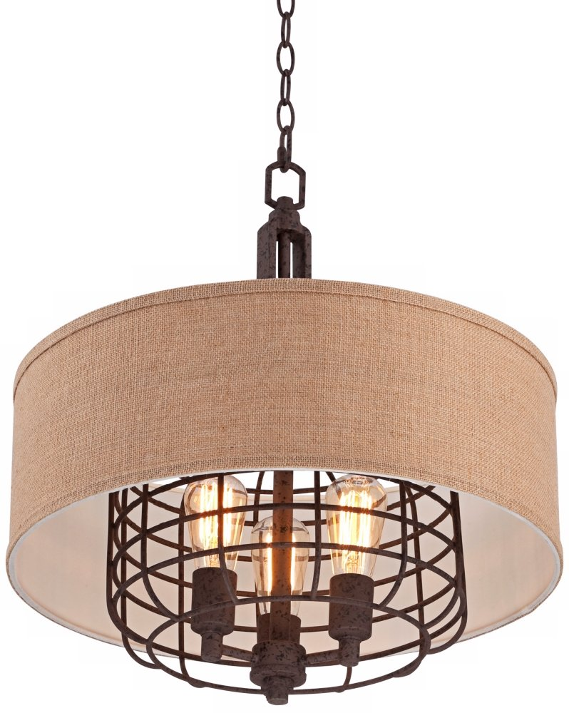 Tremont 20'' Wide Rust Pendant Light by Franklin Iron Works by Franklin Iron Works (Image #5)