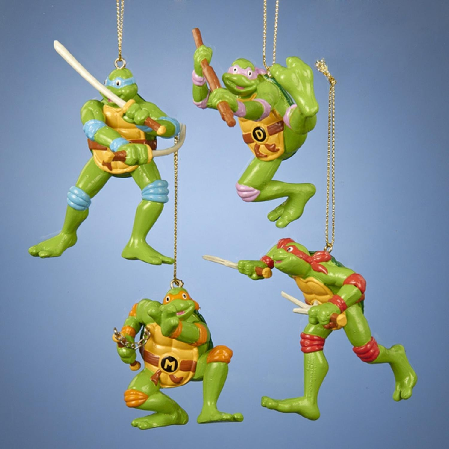 Club Pack of 24 Retro Teenage Mutant Ninja Turtles Christmas Ornaments 3.75''