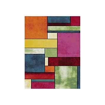 Cheap tapis multicolore design en agasta with tapis de for Tapis devant evier design