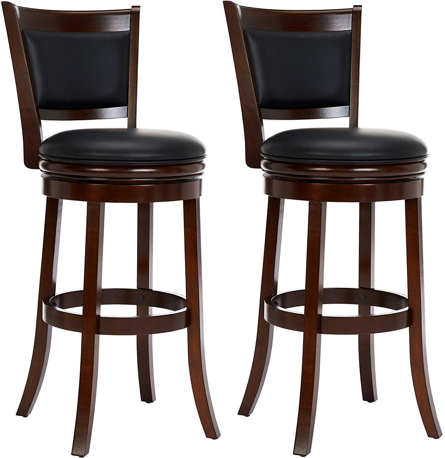 """Ball & Cast HSA-1102A-2S Bar Height, Pack of 2 Swivel Stool, 29"""", Cappuccino"""