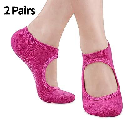 SWOLF Non Slip Yoga Socks for Women, Anti-Skid Padded Barre, Pilates, Bikram, Fitness Grip Socks