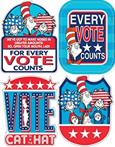 Eureka Cat in the Hat for President Stickers - Badges