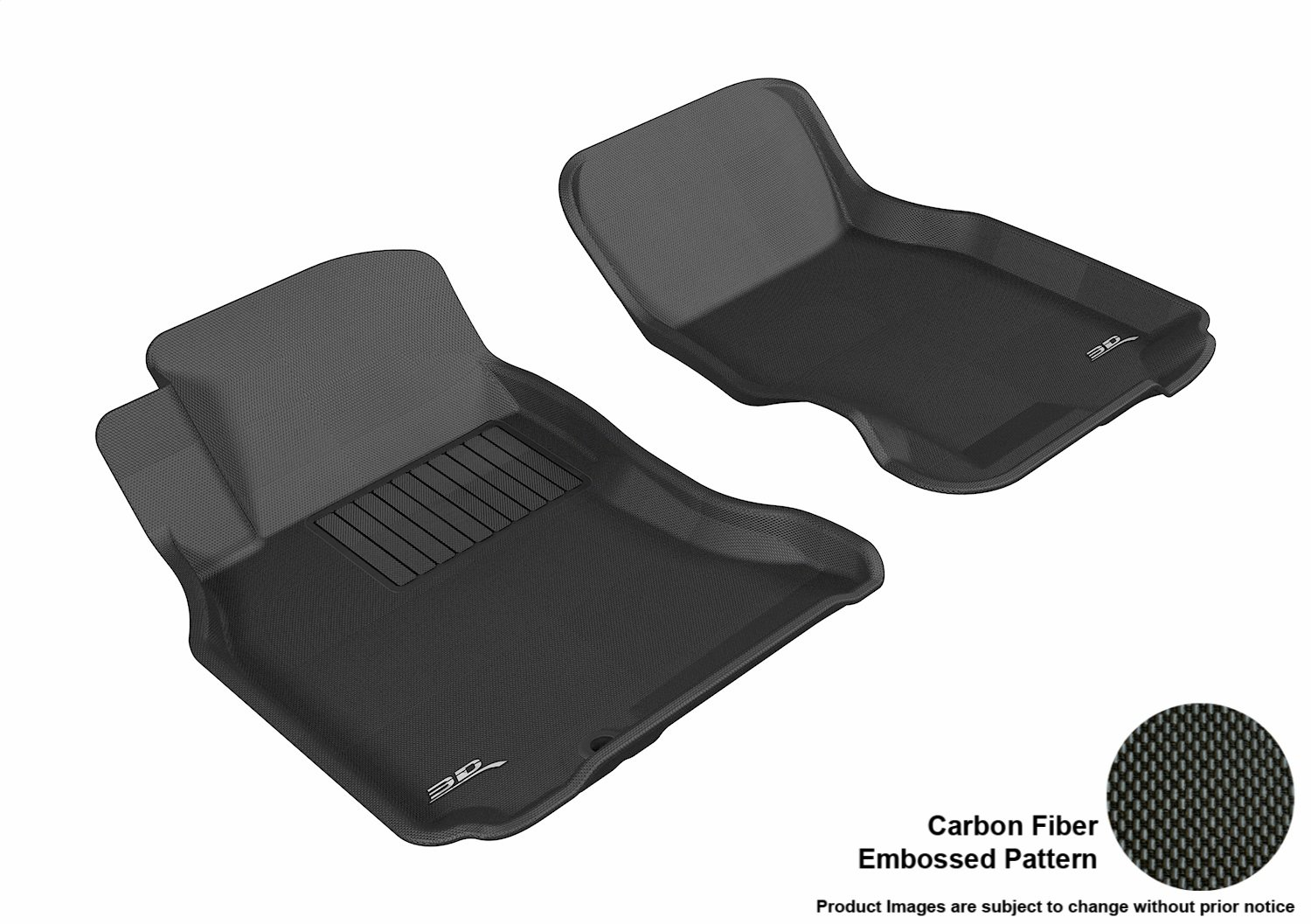 Black L1IN00001509 3D MAXpider Complete Set Custom Fit All-Weather Floor Mat for Select Infiniti FX35//45 Models Kagu Rubber