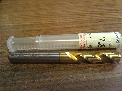 ".3071/"" 7.8mm COBALT TIN COATED SCREW MACHINE LENGTH DRILL"