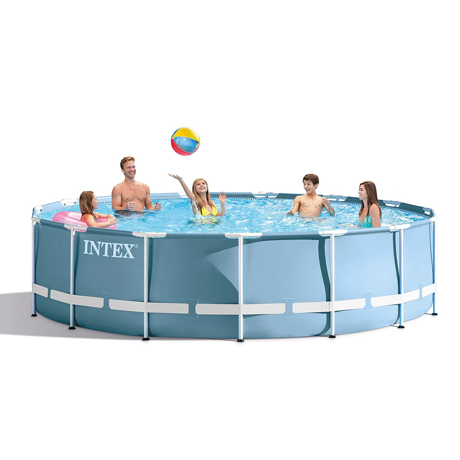 Amazon.com: Intex 15 Feet x 48 Inches Prism Frame Pool Set: Home ...