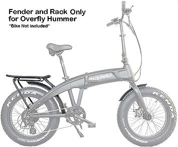 Overfly - Bicicleta eléctrica Plegable (48 V, 500 W, Motor Bafang, 7 velocidades, 10,4 Ah, batería eléctrica, Bicicleta eléctrica con neumático graso): Amazon.es: Deportes y aire libre