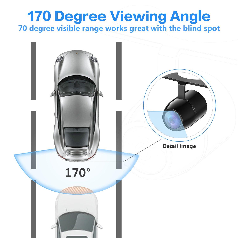 Esky EC170-06 HD Color CCD Waterproof Car Rear View Backup Camera 0.86X0.65X0.50-inch