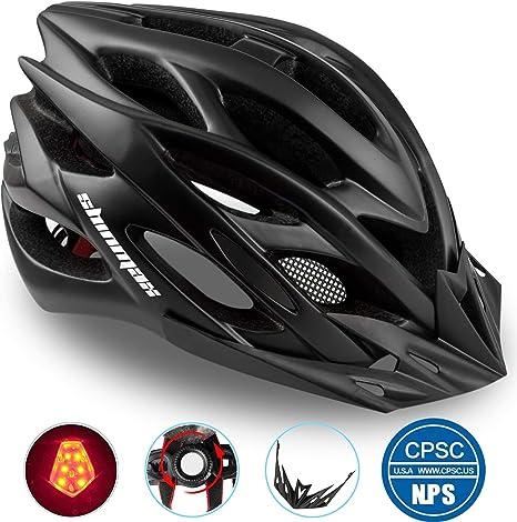 Casco Bicicleta/Casco Bicic con Luz LED,Certificado CE,Casco ...