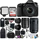 Canon EOS 80D Video Creator Kit DSLR Camera with 18-135mm Lens + Wide Angle & Telephoto Lens + SanDisk 32GB Card + Wireless Remote + Video Monopod + DC59 Gadget Bag + Slave Flash + Accessory Bundle