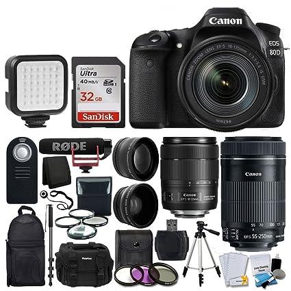 Canon EOS 80D - Kit de creación de vídeo para cámara réflex ...