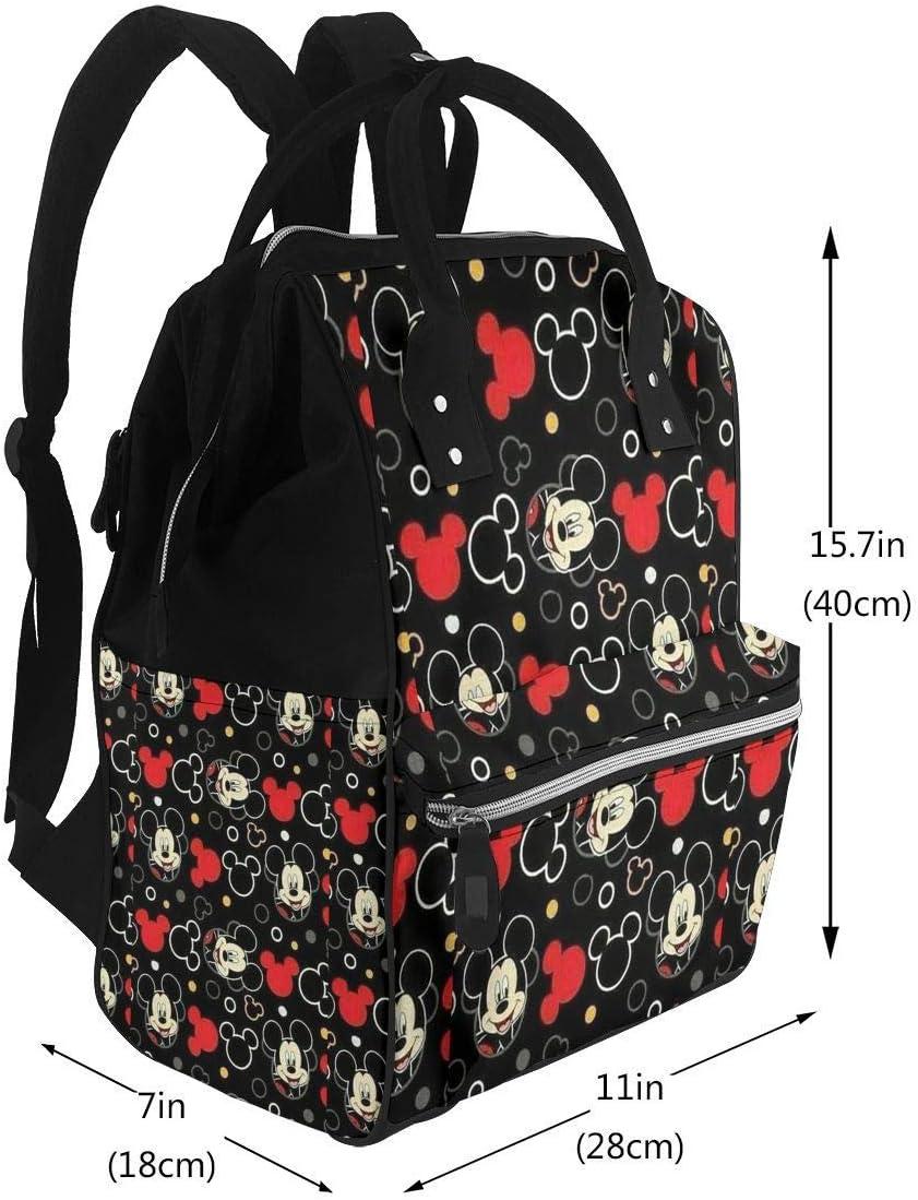 Mochila para pa/ñales Mochila de Viaje Impermeable multifunci/ón Mickey Mouse Bolsas para Cambiar pa/ñales para beb/és de Maternidad