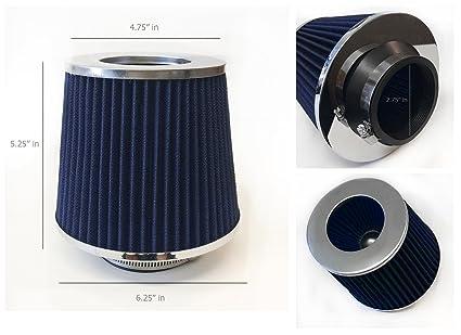 Oil High Flow Air Filter Black Blue Mesh Short Ram Cold Intake Turbo Cone Racing