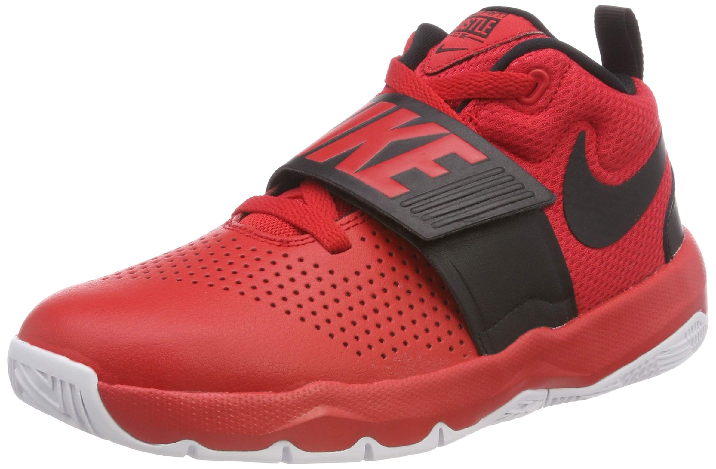 pretty nice 53e74 8afc9 Galleon - NIKE Boy s Team Hustle D 8 (GS) Basketball Shoe University Red  Black White Size 6 M US