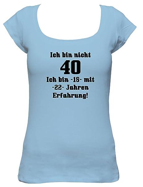 Ich bin 18 mit 32 Jahren Erfahrung Damen T-Shirt Geschenk zum 50 Geburtstag Fun