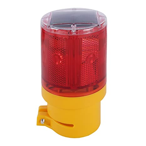 Solar Lamp Strobe Flashing Qooltek Road Powered Wireless Warning Flash Traffic Light Barricade Emergency Led Garden Sign Signs Safety Construction thsrCQd