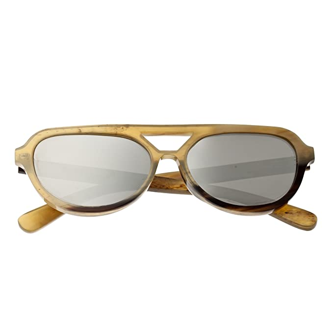 9f59249f4404a Amazon.com  Bertha Brittany Buffalo-Horn Sunglasses - Black Silver  Shoes