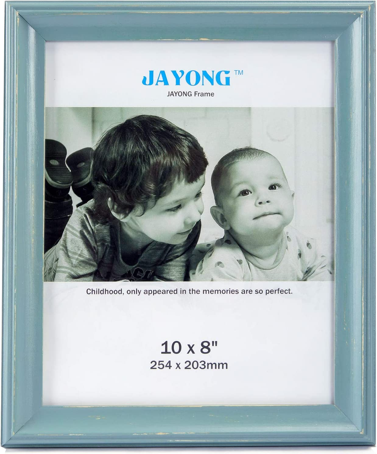 picture frame 8x10 blue Made of Solid Wood and High Tempered Glass Elegant Tabletop Photo Display 8x10 wall frame turquoise