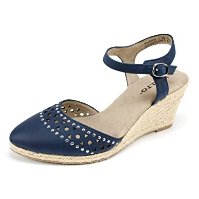 1001e6c926 Image Unavailable. Image not available for. Color: RIALTO Womens Constance  Navy 8.5 B - Medium