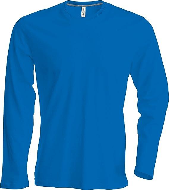Hombre Camiseta de manga larga cuello redondo Camiseta, fácil körperbetont, en 20colores y los tamaños S, M, L, XL, 2x l, 3x l y 4XL de…